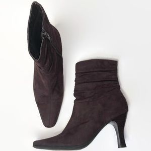 Bass Brown Suede Ankle Boots